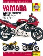 HAYNES 3702 MOTORCYCLE REPAIR MANUAL YAMAHA YZF600R THUNDERCAT 1996 - 2003